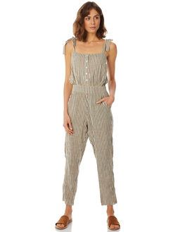 NEW SAND STRIPE WOMENS CLOTHING RUE STIIC PLAYSUITS + OVERALLS - SA18-4-NS-Y-STR