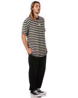 BLACK MENS CLOTHING STUSSY TEES - ST082106BLK