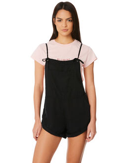 BLACK WOMENS CLOTHING BILLABONG PLAYSUITS + OVERALLS - 6572501BLK