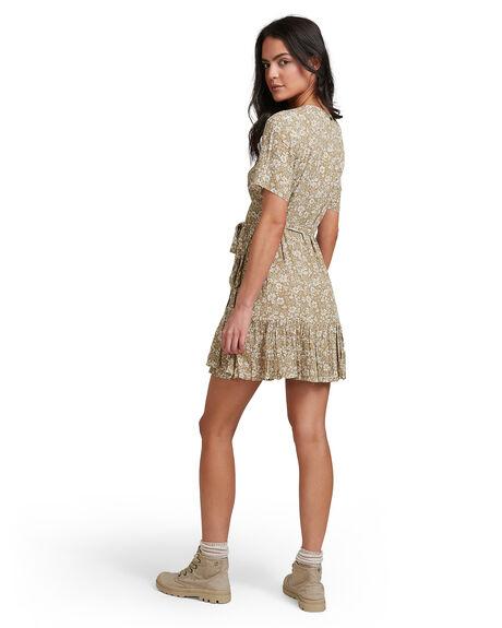 OLIVE WOMENS CLOTHING BILLABONG DRESSES - 6518468-OLV