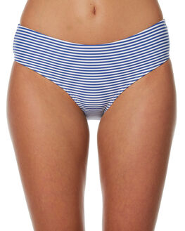 NAVY WHITE WOMENS SWIMWEAR SEA LEVEL BY NIPTUCK BIKINI BOTTOMS - SL4015PSNVYWT
