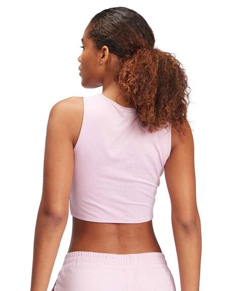 MAUVE MIST HEATHER WOMENS CLOTHING ROXY SINGLETS - ARJKT03337-PGPH