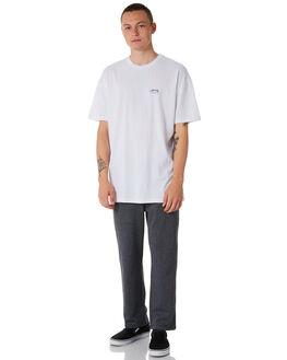 WHITE MENS CLOTHING STUSSY TEES - ST071000WHT
