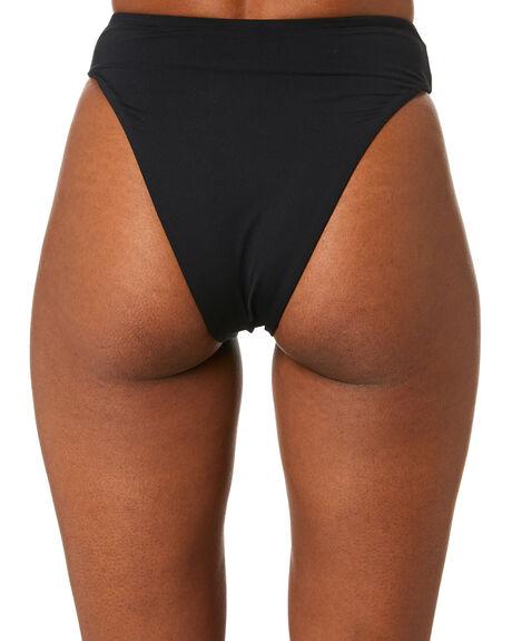 BLACK WOMENS SWIMWEAR SEAFOLLY BIKINI BOTTOMS - 40629-058BLK