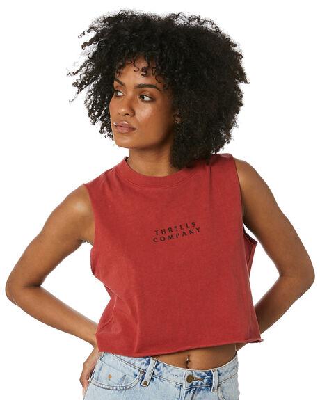 REDWOOD WOMENS CLOTHING THRILLS SINGLETS - WTR20-156HREDW