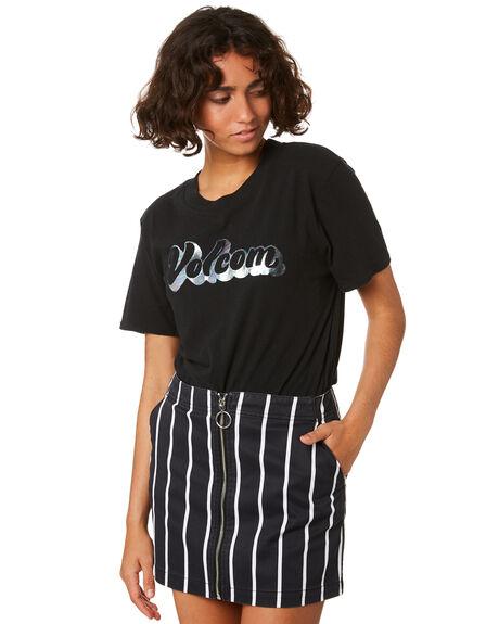 BLACK WOMENS CLOTHING VOLCOM TEES - B3511915BLK