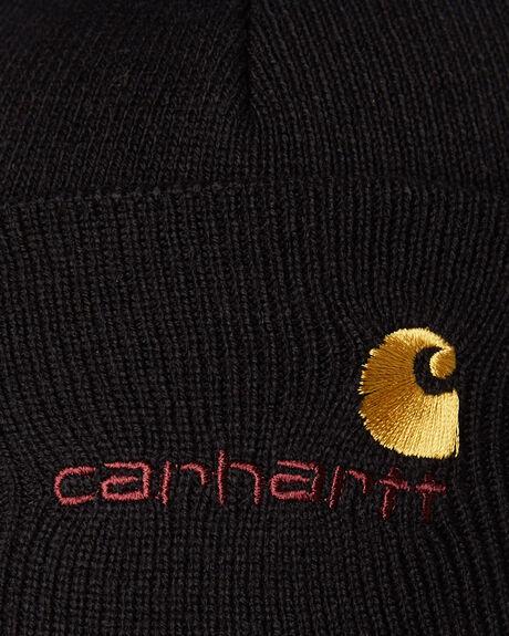 BLACK MENS ACCESSORIES CARHARTT HEADWEAR - I025386-8900