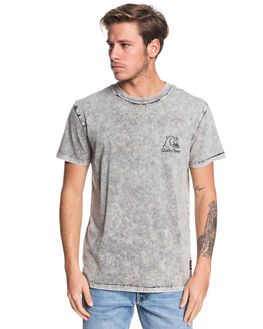BLACK MENS CLOTHING QUIKSILVER TEES - EQYKT03925-KVJ0