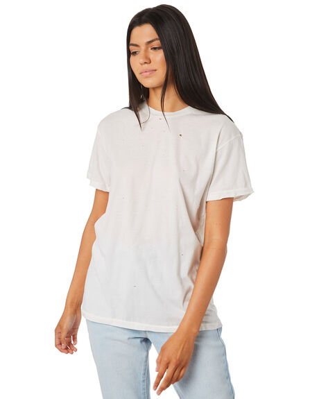WHITE WOMENS CLOTHING THE PEOPLE VS TEES - MOTHWTEE-WHT