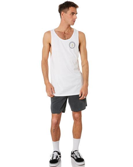 WHITE MENS CLOTHING VOLCOM SINGLETS - A0232070WHT