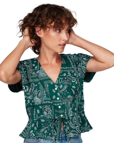 EVERGREEN WOMENS CLOTHING RVCA FASHION TOPS - RV-R292181-E22