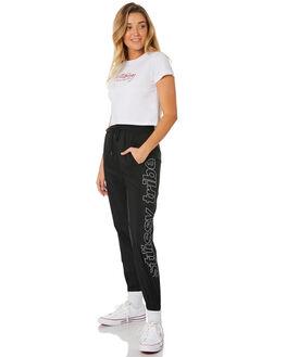BLACK WOMENS CLOTHING STUSSY PANTS - ST181615BLK