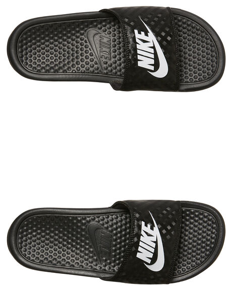 BLACK WOMENS FOOTWEAR NIKE SLIDES - 348881-011