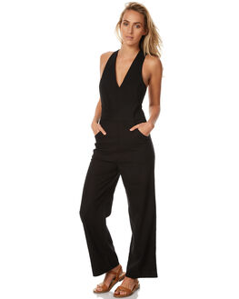 BLACK WOMENS CLOTHING ROLLAS PLAYSUITS + OVERALLS - 12345BLK1