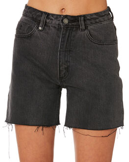 WASTED BLACK WOMENS CLOTHING THRILLS SHORTS - WTDP-315WBWASB