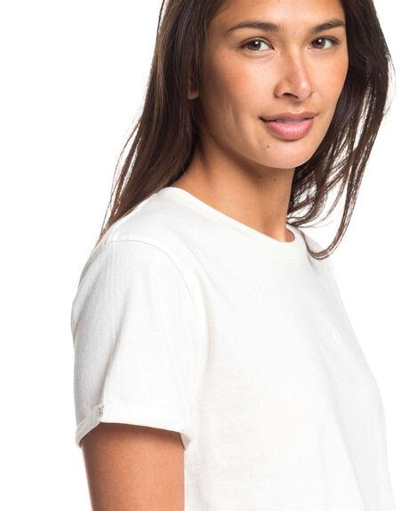 SNOW WHITE WOMENS CLOTHING ROXY TEES - ERJZT04844-WBK0