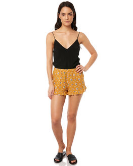 MUSTARD WOMENS CLOTHING TIGERLILY SHORTS - T381303MUST