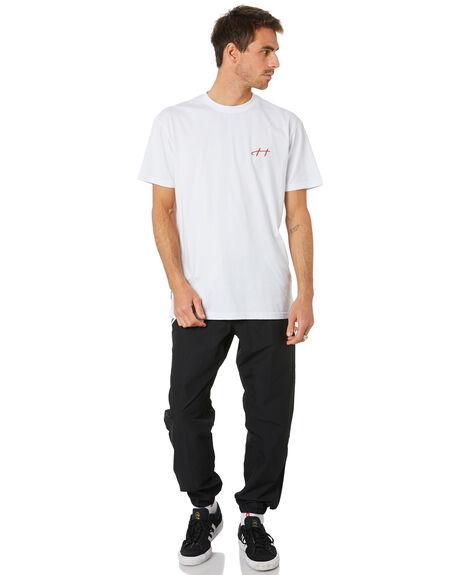 BLACK WHITE GREY MENS CLOTHING ADIDAS PANTS - FU1012BLK