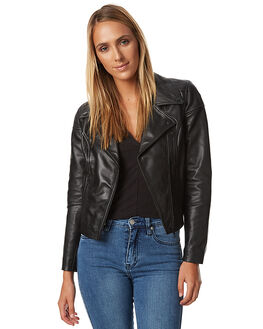 BLACK WOMENS CLOTHING A.BRAND JACKETS - 70474BLK