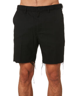 DIRTY BLACK MENS CLOTHING BANKS SHORTS - WS0102DBLK