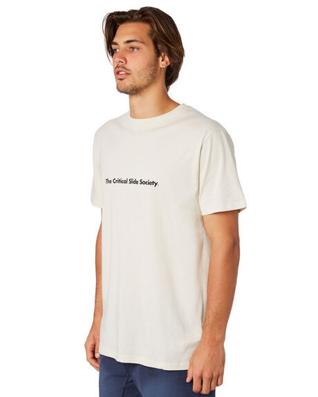 DIRTY WHITE MENS CLOTHING THE CRITICAL SLIDE SOCIETY TEES - TE1856DRWHT