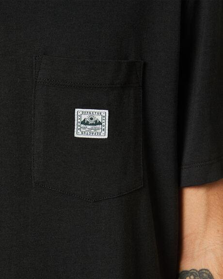 HEMP BLACK MENS CLOTHING DEPACTUS TEES - D5211000HMPBK
