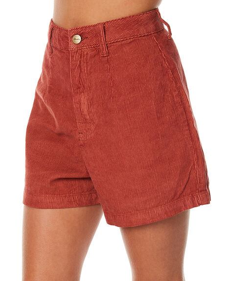 RUST WOMENS CLOTHING AFENDS SHORTS - 52-01-059RUS