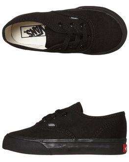 BLACK BLACK KIDS BOYS VANS FOOTWEAR - VN-0ED9BKABLKBK