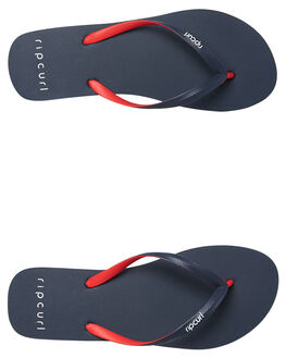 NAVY RED WOMENS FOOTWEAR RIP CURL THONGS - TGTE731144