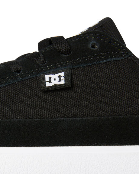 BLACK WHITE MENS FOOTWEAR DC SHOES SNEAKERS - ADYS300489BKW