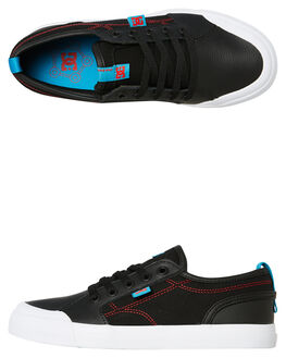 BLACK RED KIDS BOYS DC SHOES SNEAKERS - ADBS300315XKRB
