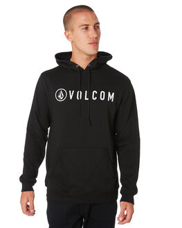 BLACK MENS CLOTHING VOLCOM JUMPERS - A41416R3BLK