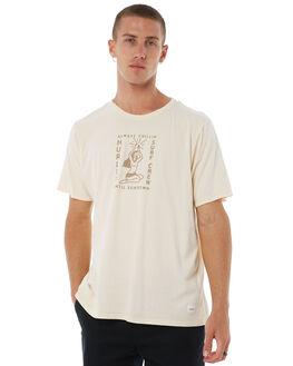 LIGHT CREME MENS CLOTHING HURLEY TEES - AJ1752200
