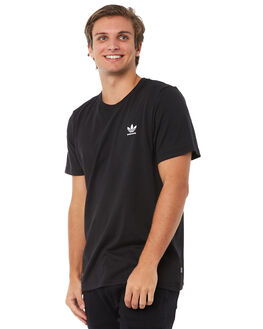 BLACK MENS CLOTHING ADIDAS ORIGINALS TEES - CW2346BLK