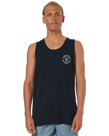 BLACK MENS CLOTHING GLOBE SINGLETS - GB01722002BLK