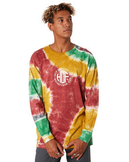 ROSE WOOD RED MENS CLOTHING HUF TEES - TS00782-RWRED