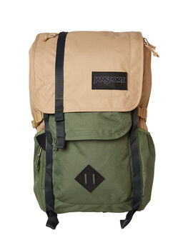 TAN MUTED GREEN MENS ACCESSORIES JANSPORT BAGS + BACKPACKS - JS00TAN1-JS4E7