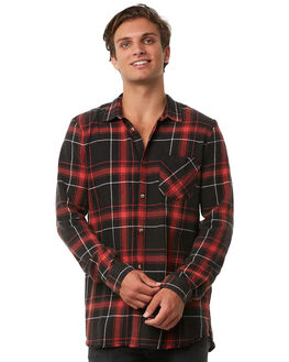 SHRED RED MENS CLOTHING A.BRAND SHIRTS - 810753645