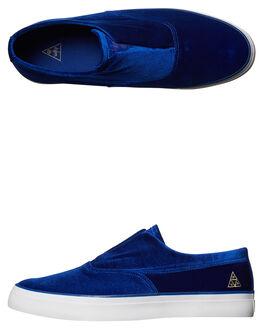 BLUE MENS FOOTWEAR HUF SLIP ONS - VC00009BLU