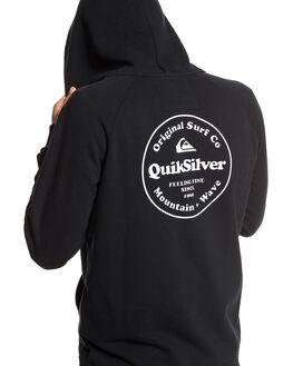 BLACK MENS CLOTHING QUIKSILVER JUMPERS - EQYFT03971-KVJ0