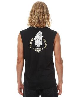 FADED BLACK MENS CLOTHING THRILLS SINGLETS - TH7-119FBFBLK