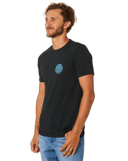 WASHED BLACK MENS CLOTHING RIP CURL TEES - CTEJI98264