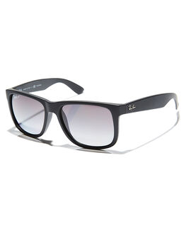 BLACK RUBBER POLAR MENS ACCESSORIES RAY-BAN SUNGLASSES - 0RB416555622T3