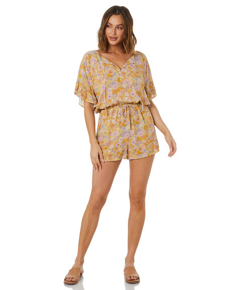 HERMOSA FLORAL WOMENS CLOTHING THE HIDDEN WAY PLAYSUITS + OVERALLS - H8222459HFLRL