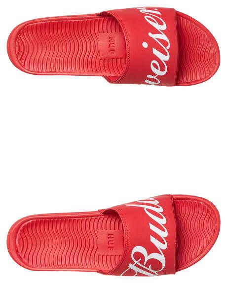 RED MENS FOOTWEAR HUF SLIDES - CP00038-RED