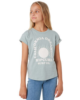 BLUE GREY KIDS GIRLS RIP CURL TOPS - JTEEP10131