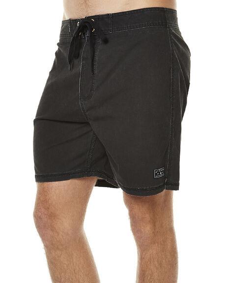 FADED BLACK MENS CLOTHING AFENDS BOARDSHORTS - 10-01-056FBLK