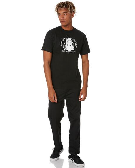 BLACK MENS CLOTHING HUF TEES - TS01172BLACK