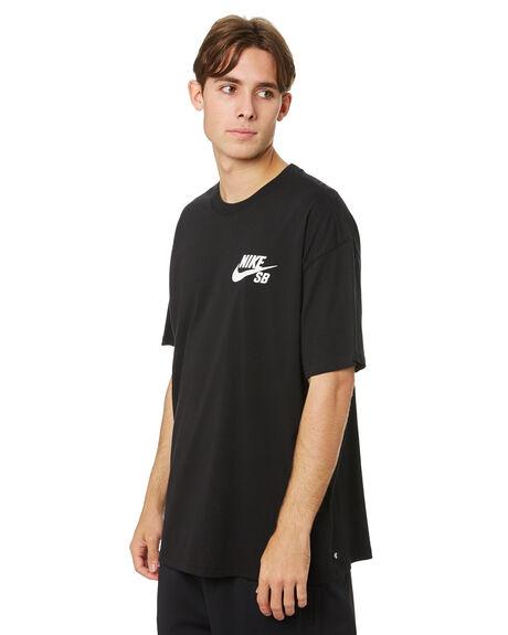 BLACK MENS CLOTHING NIKE TEES - DC7817010