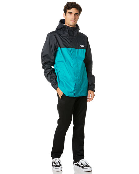 FANFARE GREEN BLACK MENS CLOTHING THE NORTH FACE JACKETS - NF0A2VD3NX6